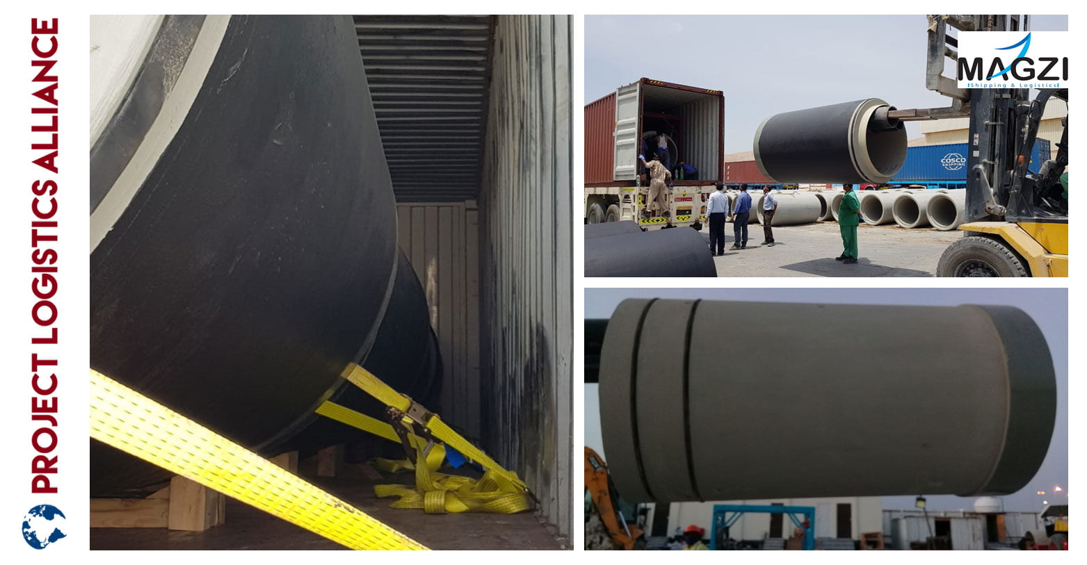 Magzi Shipping and Logistics Manages Efficient Transfer Of 2727 MT Concrete Pipes
